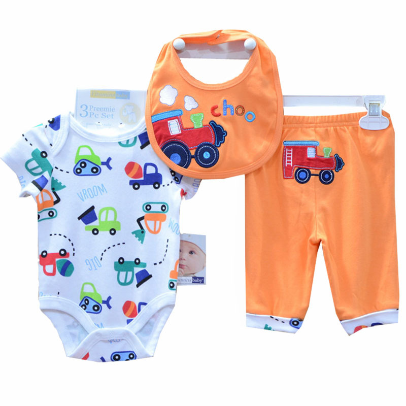 BABY BOY GIRL Clothing Set Kids Carters Original Newborn Cheap Baby Clothes 3PCS/Lot Bebek Next Bebes Dress High Qulity ST7(China (Mainland))