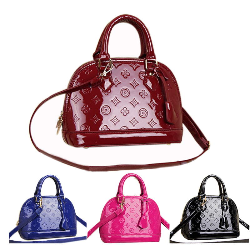 High quality venis embossed patent leather alma woman L brand handbag famous brand lady tote bag