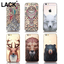 Phone Cases Apple iPhone 6 Case iphone 6S Plus 5 5S SE Cute Owl Wolf Bear Animal Printed Soft TPU Cartoon Back Cover - One yuan, profit chain store