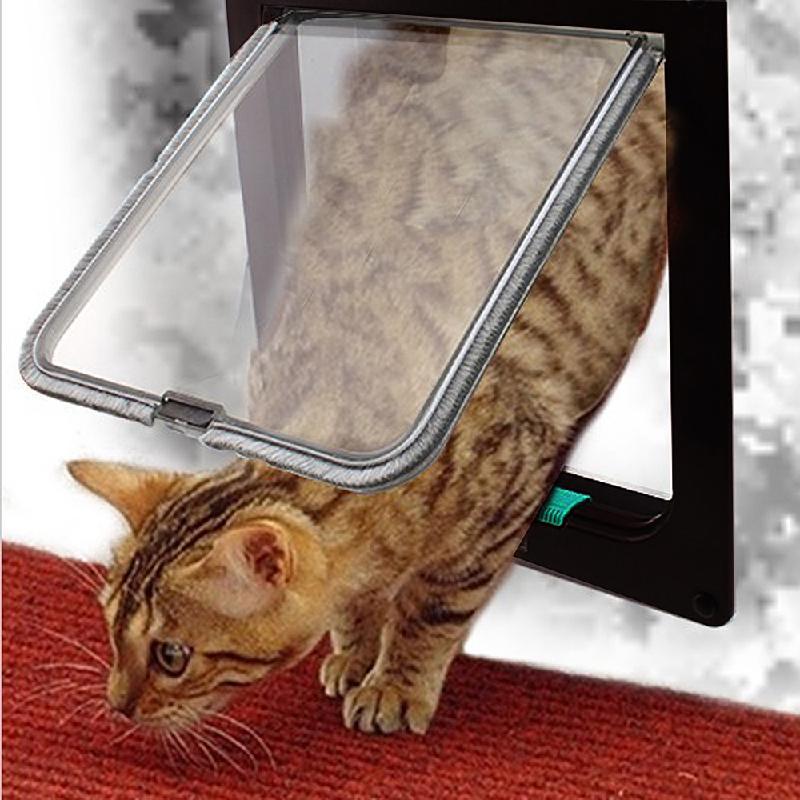 4-Mode Pet Cat Dog Flap Door Lockable Safe ABS for Kitten Small Dog Size S(China (Mainland))