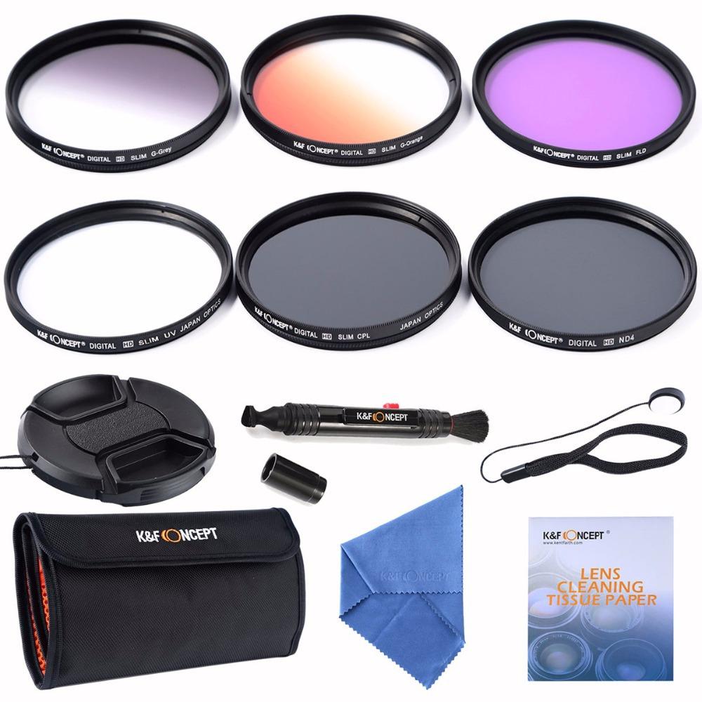 52mm slim UV CPL FLD ND4 Filter lens kits+slim Orange Grey Graduated colour filter for Nikon D300,D7000,D5100 D3200(China (Mainland))