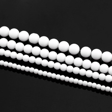 Buy Pick Size 4MM 6MM 8MM 10MM Fashion Semi-finished Round White Natural Stone Beads Making Jewelry DIY stone beads natural for $1.35 in AliExpress store