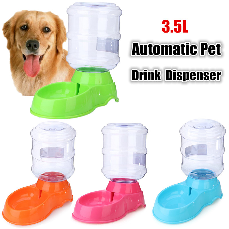 Automatic Large Pet Drink Dispenser 3.5L Dog Cat Feeder Water Drinking Bowl Dish Portable Pet Puppy Feeding Tools Accessories(China (Mainland))