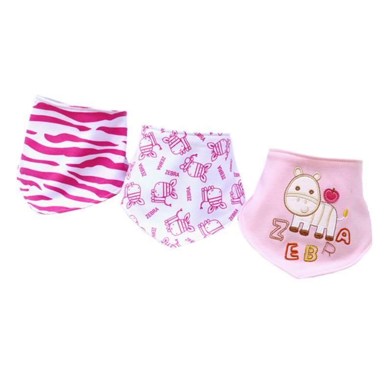 3PCS Baby Bibs Bavoir Baberos Babador Bandana Bibs Bebes Carters Baby Boy Girl Bib Cotton Bavette Skip Zoo Baby Towel Feeding W7