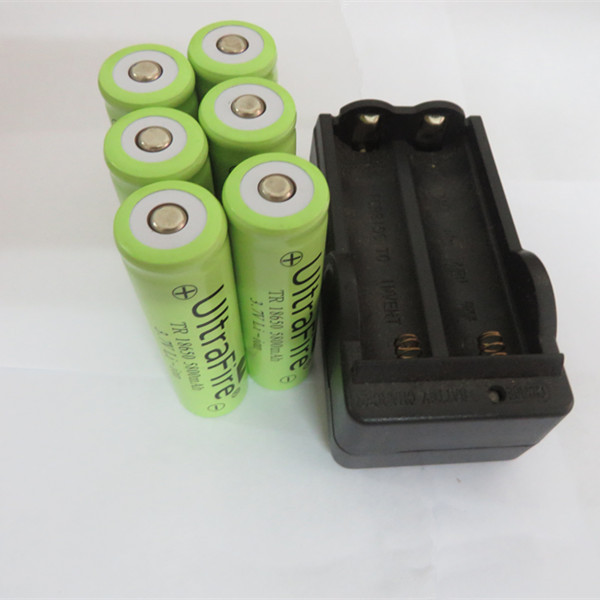 best price 6PCS Battery High Capacity Battery 18650 Dual Wall Charger 5800mAh 3.7v Rechargeable Battery + Dual Charger(China (Mainland))