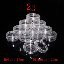 2g empty clear Cream container Jar, MIni sample Cosmetic Container,Display Case,Cosmetic Packaging ,2g Mini plastic bottle 50pc - E shop store