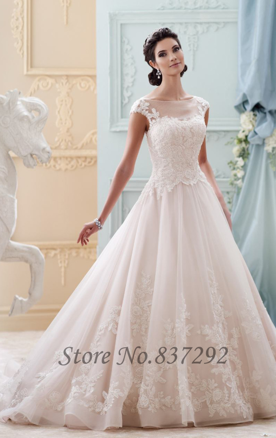 Hot sell vintage wedding dress lace vestido de noiva for Sell wedding dress for free