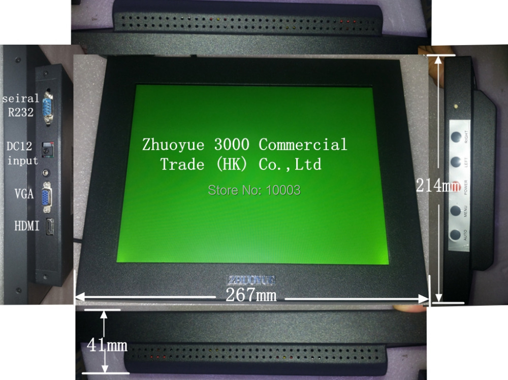 2015 Sale Stock hdmi Kiosk Great Price 10.4 Inch Touch Screen Monitor for Industrial PC ,Open Frame 4:3 Monitor.R232 Monitor.(China (Mainland))