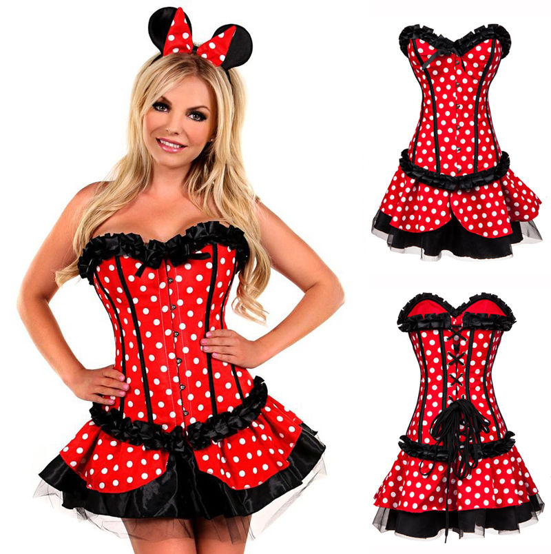 2016 Red Minnie Mouse Dress Adult Halloween Costumes for ...