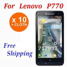 10pcs High Quality 3G smartphone Protective Film For lenovo P770 Screen Protector Free Shipping Retail packaging