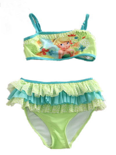 Free Shipping 6sets/lot 4-10yrs Girls Tinker Bell Tankini Swimsuit<br><br>Aliexpress