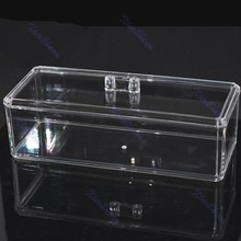 Hot Clear Acrylic Tub Box Cosmetic Organizer Makeup Jewelry Display Case SF 1171 23cm x 9cm - Lily's Home Goods store