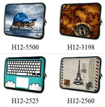 "11.6"" 12"" Colorful Design Laptop Bag Sleeve Case Cover Neoprene Netbook Bag"