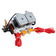 Factory Direct! 0.3/0.35/0.4/0.5MM Dual Head Dual Nozzles MK8 Extruder for Reprap 3D Printer 1.75/3MM Filament