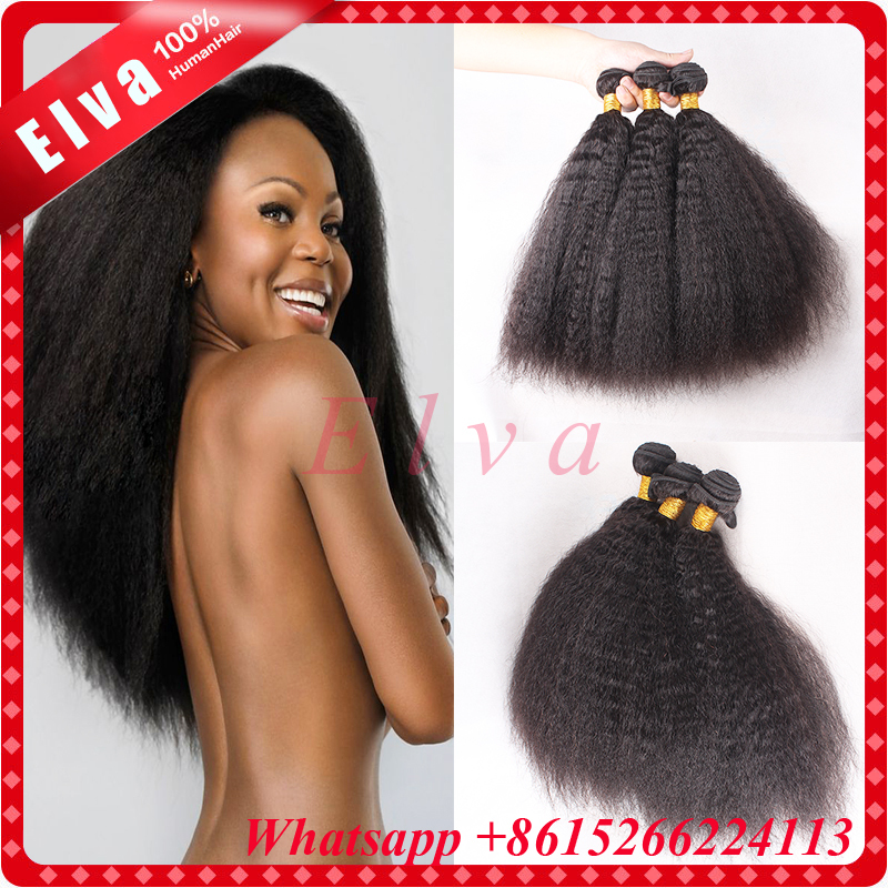 7A Cheap Mongolian Kinky Straight Hair Weave 3pcs Lot,Yaki Human Hair Bundles,Coarse Yaki Virgin Hair Italian Yaki Weave Bundles