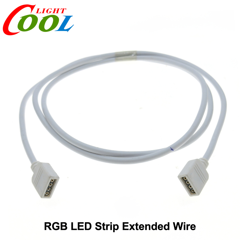 RGB LED Strip 4pin 1meter Extended Wire Connecotor.(China (Mainland))