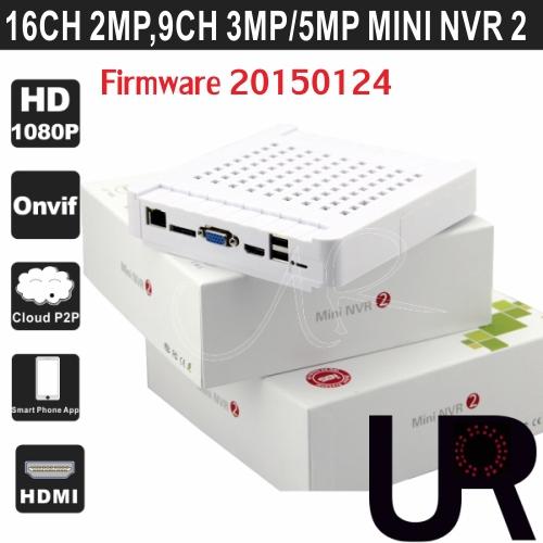 16CH 1080P, 9CH 3MP, 4CH 5MP White Color Onvif Mini Network Video Recorder N6200-16EH with HDMI VGA Output 16CH Mini NVR II(China (Mainland))