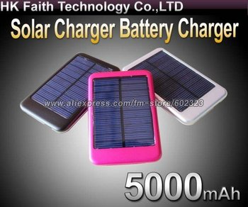 5000mah Solar Charger Solar Panel Battery Charger USB for iPhone/iPad Digital camera/PDA/PSP/GPS