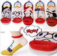 Creative 3 d cartoon pirates expression cotton socks10pair/lot free shipping