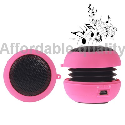 Brand New Hamburg Style Portable Mini Speaker, Built in Rechargeable Li-ion Battery Free Shipping (Red)(China (Mainland))