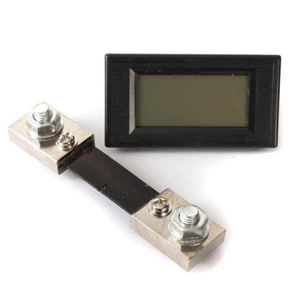 LCD Digital Display DC 100A LED Panel Ammeter/Amp Ampere Meter 100A/75mV shunt 79 mm x 43 mm x 24 mm(China (Mainland))