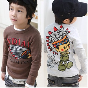 New 2015 Boys Spring And Autumn Children T Shirts, Hot Sale Boy Clothes, Indian Pattern Long-sleeve Boys T-shirt<br><br>Aliexpress
