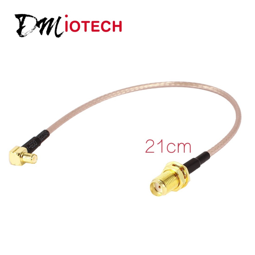 MCX Male Right Angle to SMA Female Straight RG316 Low Loss Pigtail Adapter Cable Discount 70(China (Mainland))