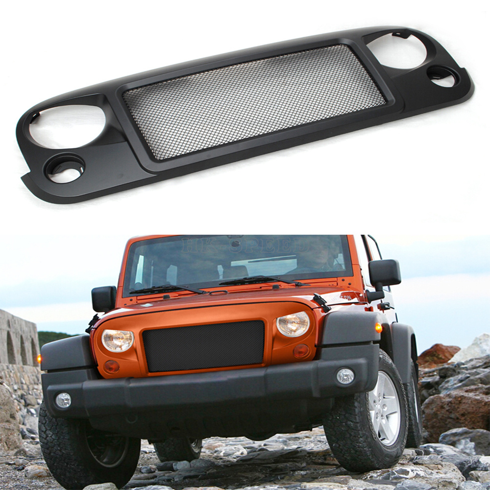 ABS car front grill grille for Jeep Wrangler 2007-2015<br><br>Aliexpress