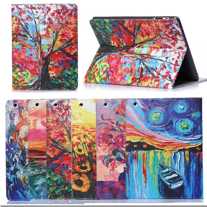 Гаджет  YD2 For ipad 2 3 4 Pu Leather Oil painting Pattern Skin Protective Case for apple ipad 2 case for ipad 3 for ipad 4 cover Tablet None Компьютер & сеть