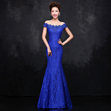 Long Mermaid Evening Dress Sweetheart Beaded Robe Femme Bal Prom Wedding Party Evening Gowns Dress Black Backless Party Dress(China (Mainland))