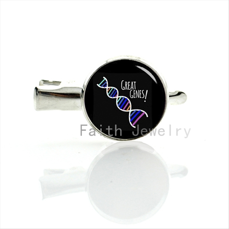 Great Genes hairgrips colored dna art image hairpin funny silver plated gene hair clip pins jewelry family & friends gifts T691(China (Mainland))