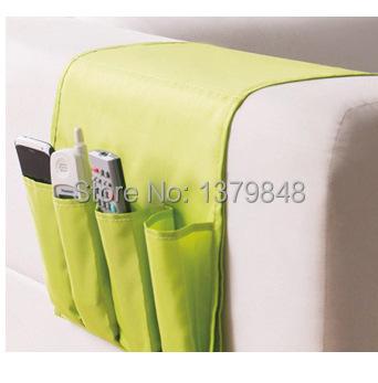 2PCS/LOT Japanese style sofa hanging storage bag Oxford Fabric Sofa Bag Remote Control Storage Bag Multi-layer Storage Bag(China (Mainland))