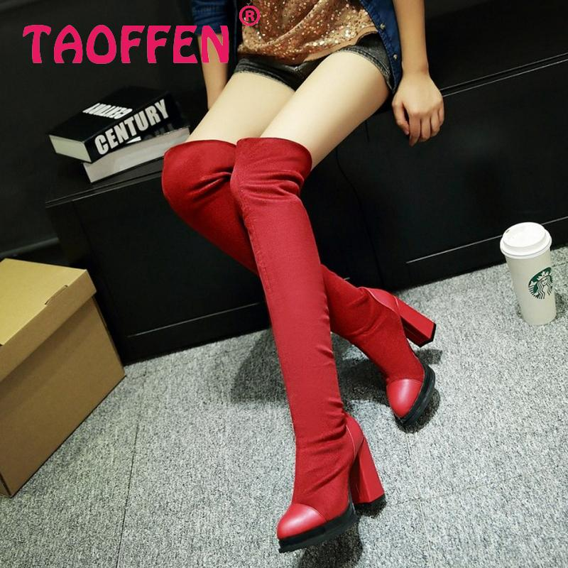 women over knee boots high heel fashion winter warm water proof riding long boot quality footwear heels shoes P20834 size 34-39<br><br>Aliexpress