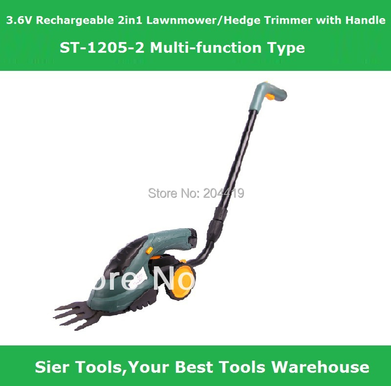 Garden Power Tools!/3.6V Rechargeable 2in1 Lawn Mower/ST1205-2 electric Grass Cutter/Sier electric lawnmower&prunner/grass mower(China (Mainland))