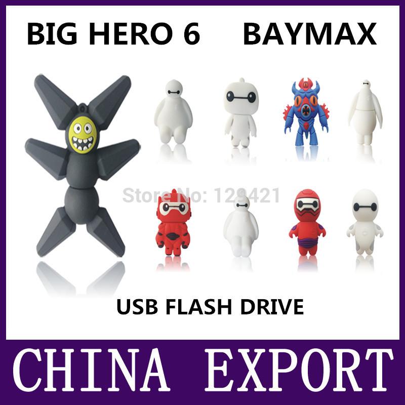 usb flash drive pen drive big hero 6 baymax 64GB 32GB 16GB 8GB 4GB pendrive USB 2.0 cute cartoon memory card U Disk(China (Mainland))