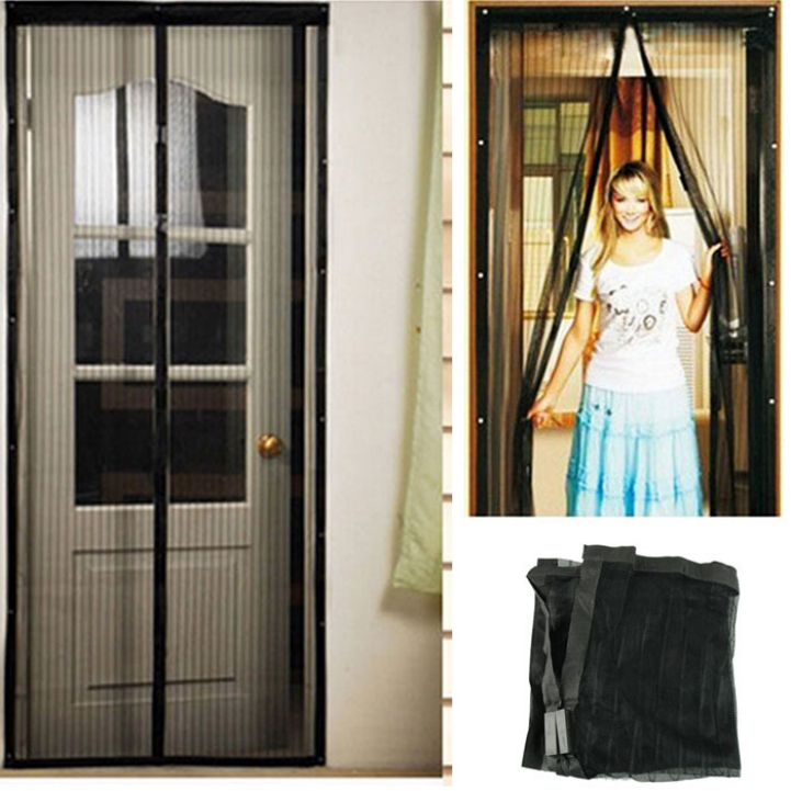 Delicate Magnetic Mesh Net Screen Anti Mosquito Bug Fly Home Gate Door Magic Curtain Hot Selling(China (Mainland))