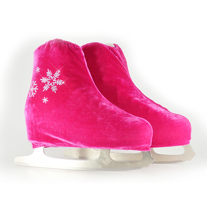 12 Colors Child Adult Velvet Ice Figure Skating Shoes Cover Solid Color Roller Skate Accessories Athletic Rose Red Snow Pattern(China (Mainland))