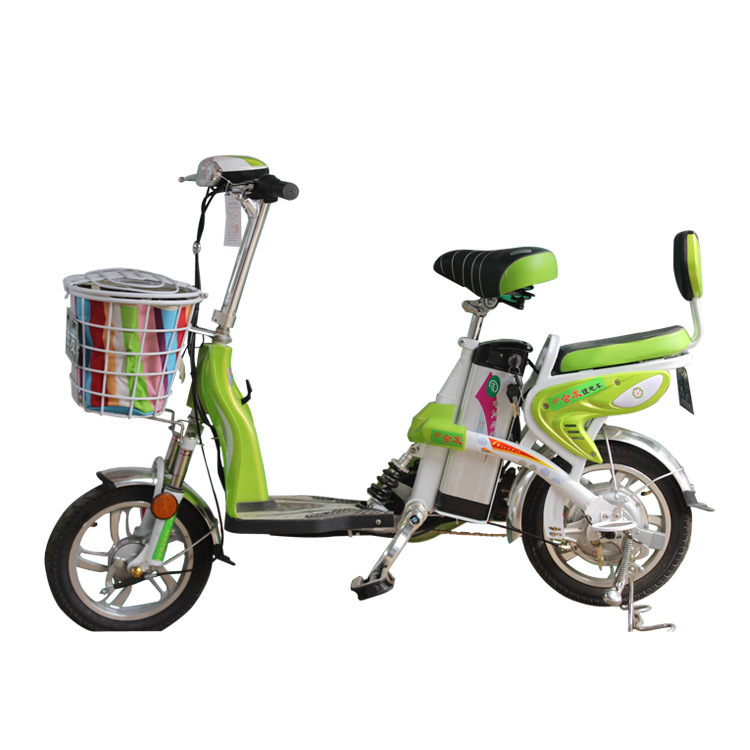 Shelf 16 inch electric bicycle Double green low price electric bicycles Xuehu