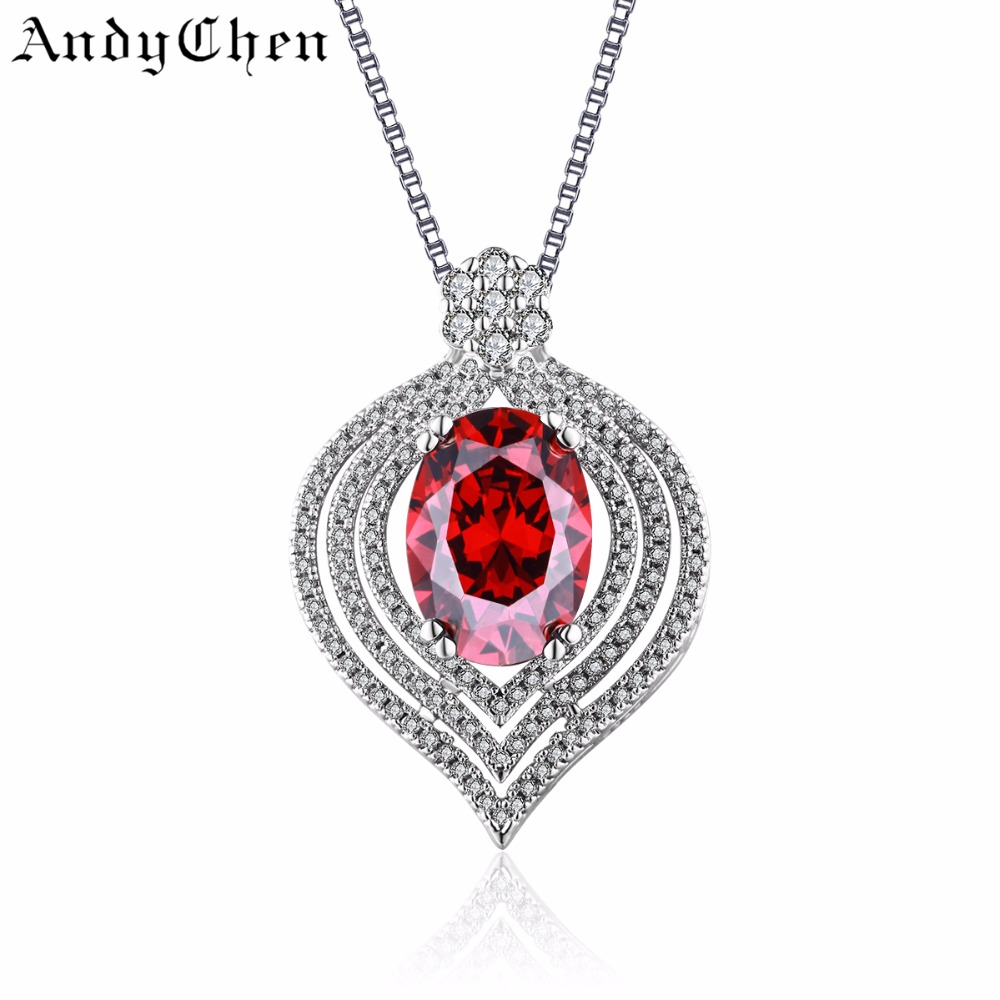 Heart Ruby Jewelry Silver Filled Vintage Necklaces & Pendants for Women Romantic Crystal Bijoux Femme Accessories ASN004(China (Mainland))