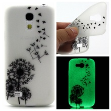 New Hot Painted TPU Silicone Creative Design Luminous Glow in The Dark Phone Shell Case Cover For Samsung Galaxy S4 Mini i9190