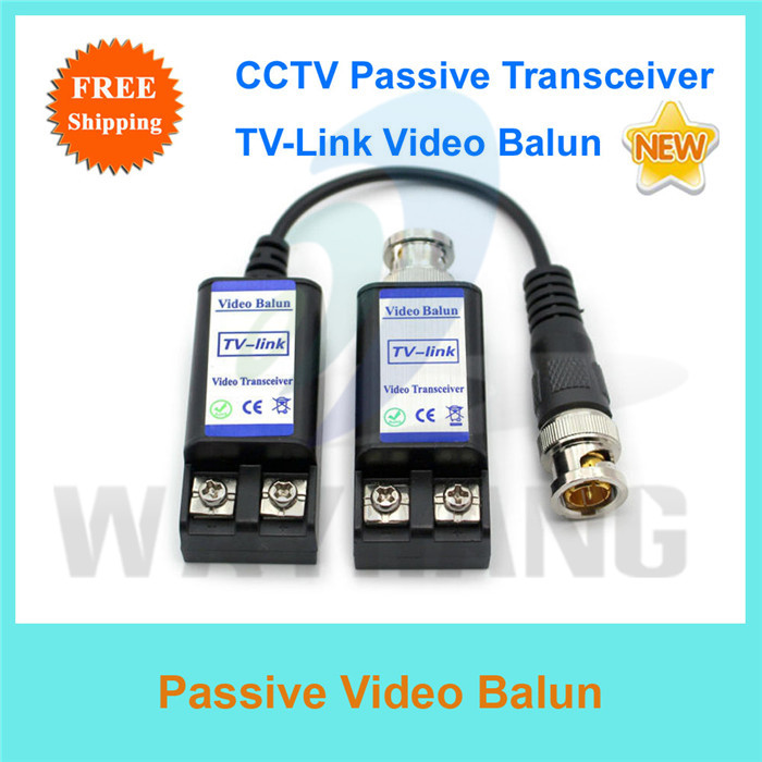 Free shipping 2pairs/lot Video Balun Cable 1CH Passive Video Transmiter Transceiver For Transmitting CCTV Video(China (Mainland))