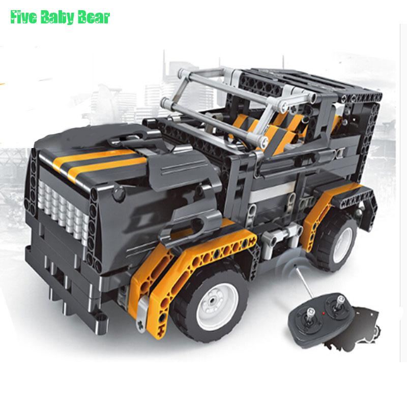 Rc Car Toys Building Block Vehicle RC Car Assembling Electric Toys Remote Control Educational Kid Toy for Children Gift(China (Mainland))