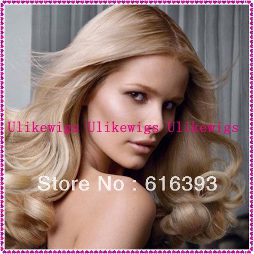 7A Extreme quality mongolian virgin hair jewish wigs,kosher wigs 18'' #27 Loose Wave 100% human hair silk base lace front wigs(China (Mainland))