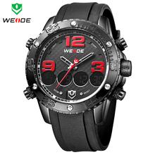 Nuevo WEIDE Dual Time cuarzo hombres del reloj militar multifunción deportes relojes de silicona reloj hombre reloj Relogios Masculinos