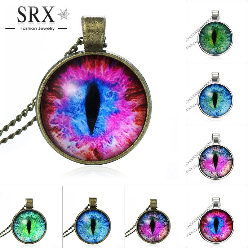 2016 Vintage Jewelry Wholesale Blue Green Cat Eye Necklace Pendant Fashion Charming Rhinestone Ethnic Necklace for Men Women(China (Mainland))