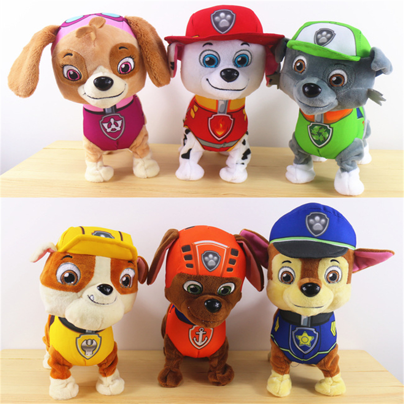 Гаджет  High quality 2015 Singing walk paw patrol toys Action Figures 24cm patrulla canina toys first edition of two Language style None Игрушки и Хобби