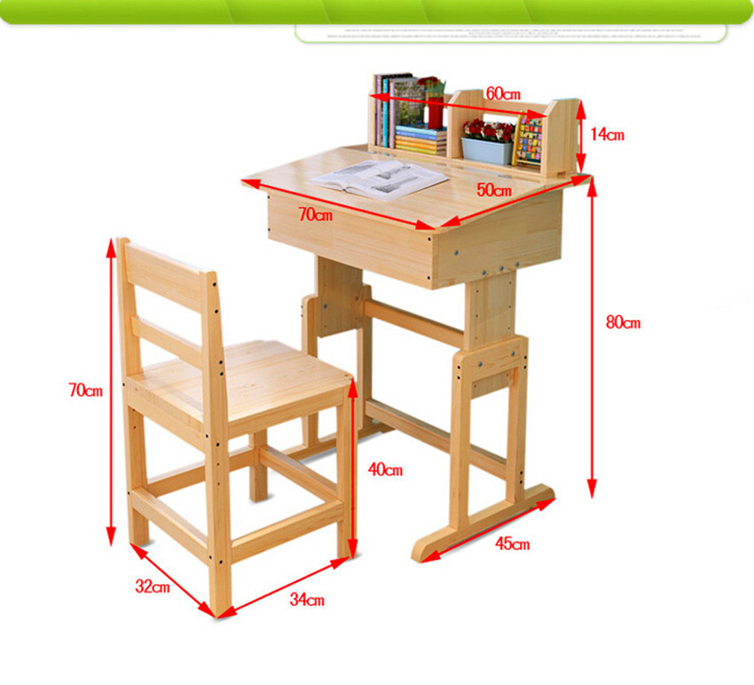 children kids wooden study table and chair set study desk set wood
