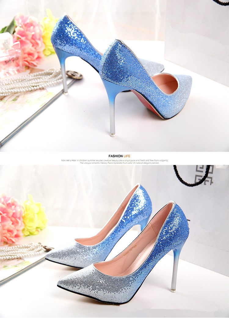 New Brand Fashion Women Pumps Red Bottom Thin High Heel Pumps Shoes For Women Pointed Toe Sexy Party Wedding  Woman Shoes ZX1.5