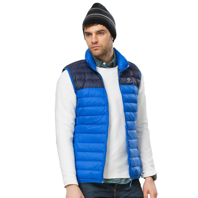 Free shipping men duck down vest 2016 New Arrival Brand Sleeveless Jacket Winter Outdoor Casual 90% Down Vest SlimVest Waistcoat<br><br>Aliexpress