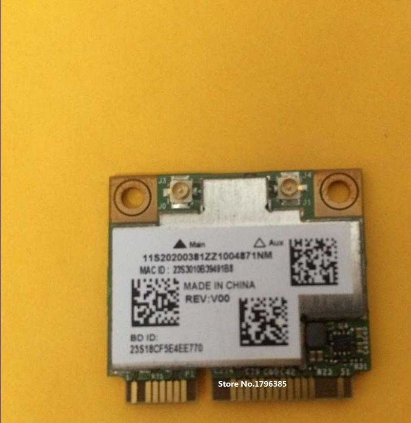 NEW WiFi Bluetooth 4.0 BroadCom BCM4352 BCM94352HMB Half Mini PCI-E 802.11ac 876M Dual Band 2x2 Wireless card for Lenovo 03T7135(China (Mainland))
